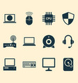 computer icons set collection of earphone vector image vector image
