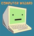 Computer Wizard vector image vector image