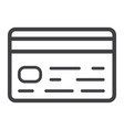 credit card line icon business and finance vector image