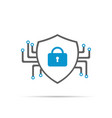 cyber security icon with shadow vector image vector image