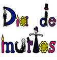 day of the dead letters 2 vector image vector image