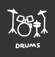 drum kit freehand vector image vector image