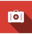 First aid box icon with long shadow vector image vector image