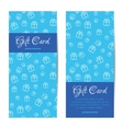 gift cards banners Boxes pattern vector image vector image