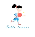 Girl with a tennis racket vector image vector image