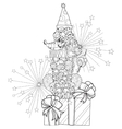 Hand drawn doodle outline poodle vector image vector image