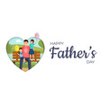 happy father day banner template smiling vector image vector image