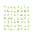 massage and spa icons set for your design vector image