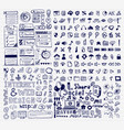 mega collection of hand drawn universal internet vector image