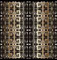 Modern geometric meander seamless pattern wit