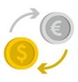 Money exchange icon flat style vector image vector image