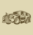 muscle car or vintage transport classic retro old vector image vector image