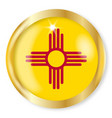 new mexico flag button vector image