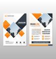 Orange square brochure flyer leaflet template vector image vector image