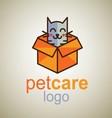 pet care logo 8 vector image