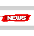 Pixel text news on red background vector image vector image