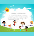 playground children having fun vector image