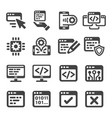 programming icon vector image