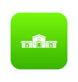 railway station building icon digital green vector image vector image