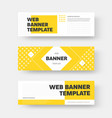 rectangular horizontal web banner design vector image vector image