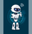 robot and interface poster vector image