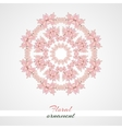 Round Ornament Pink Flowers vector image