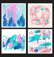 set backgrounds from brush strokes vector image vector image