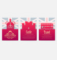 set of england country ornament vector image vector image