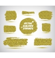 set of hand made golden strokes vector image vector image