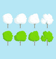 set winter and summer trees vector image vector image