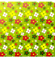 Simple flower pattern colorfulness cute vector image vector image
