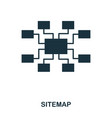 sitemap icon line style icon design ui vector image