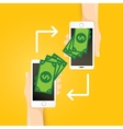 smartphone processing of mobile payments vector image