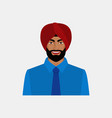 smiling indian businessman in turban vector image vector image