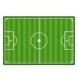 soccer field top view empty football stadium vector image vector image