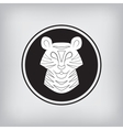 Stylized silhouette of a tiger vector image vector image