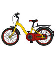 the red and yellow bicycle vector image