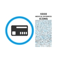 Ticket Rounded Symbol With 1000 Icons vector image vector image