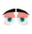 tired cartoon eyes icon vector image vector image