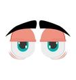 Tired cartoon eyes icon