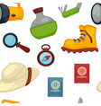 travel appliances and signs flask and boot vector image vector image