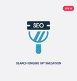 two color search engine optimization icon from vector image vector image