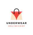 underwear online shop shopping bag logo icon