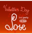 valentine s day banner for party vector image vector image