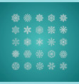 white snowflakes icon on gradient background vector image