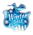 winter sale promotion banner poster paper vector image