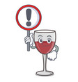 with sign wine character cartoon style vector image