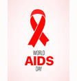 world aids day card vector image