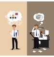 good and bad working vector image