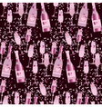 seamless pattern with sparkling alcohol beverage vector image